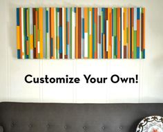 DIY Painting from painted woodsticks