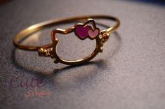 Hello Kitty gold bracelet -Kara would love this! Hello Kitty Jewelry, Hello Kitty Items, Sanrio Hello Kitty, Hello Kitty Stuff, Baby Jewelry, Kids Jewelry, Cute Jewelry, Hello Kitty Collection, Cat Ring