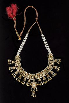 India   Necklace; gold, gemstones and pearls   ca. 1890 - 1915. Former Kingdom of Nabha, Punjab state   ©Asian Art Museum, San Francisco