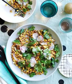 Toasted corn and spelt with miso dressing recipe :: Gourmet Traveller