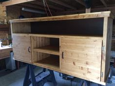 Entertainment center  - Woodworking creation by David