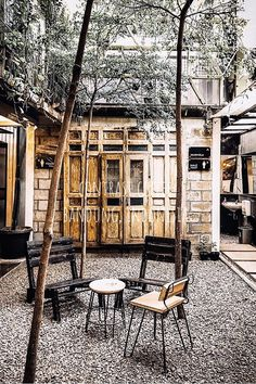 Contrast Coffe in Bandung, Indonesia. Concrete Architecture, Rooftop Deck, Cozy Place, Train Rides, Best Coffee, Restaurant Bar, Coffee Shop, Bali, Outdoor Structures