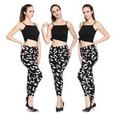 VISNXGI Women Fashion Leggings Retro Printing Fitness Legging Elegant Sexy Elasticity Leggins High Waist Legins Trouser Pants