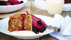 This pleasantly spiced cake laced with crisp apple cider is perfect with a generous dollop of cream.