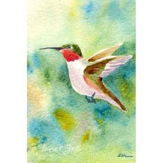hummingbird pictures to print for free | Hummingbird Print Small Bird Art Janet Zeh by JanetZeh on Etsy
