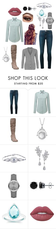 """""""Ice princess"""" by friday778899 on Polyvore featuring Frame, Pure Collection, Dr. Scholl's, Blue Nile, Harry Winston, Burberry, BERRICLE, La Preciosa and Lime Crime"""