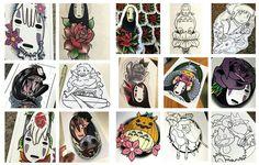 Hayao Miyazaki and Studio Ghibli drawings by Chrismesitattoo