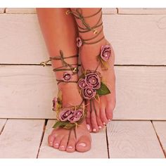 Barefoot Sandals, Wedding Sandals, Nude Shoes, Bridal foot jewelry,... ($47) ❤ liked on Polyvore featuring shoes, sandals, bohemian sandals, evening shoes, wedding shoes sandals, nude shoes and boho sandals