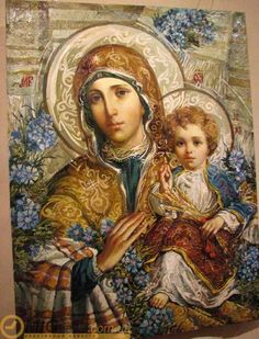 Images of Mary You Have Never Seen Before Religious Pictures, Religious Icons, Religious Art, Virgin Mary, Jesus E Maria, Images Of Mary, Queen Of Heaven, Ukrainian Art, Blessed Mother Mary