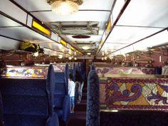SLに連結される客車の一つ、欧風車両の内部