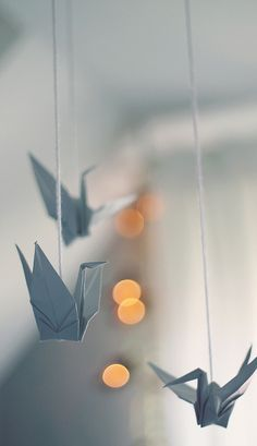 Origami birdies, so fun and cute. a great DIY project for your special day. #Labola.co.za follow us at labola decor hire and flowers.