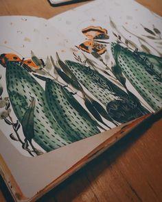 "Tanja von Die Handletterei on Instagram: ""#creativesession 😌 #watercolorillustration #botanicalwatercolor . Pssst... das #makingof Video gibt's bereits auf IGTV 😘🙌🏻. . Inspired by…"""