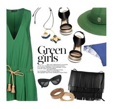 """""""Basics for summer"""" by magdafunk ❤ liked on Polyvore featuring Dsquared2, Green Girls, Nicholas Kirkwood, Cosabella, Emilio Pucci, Marni, Proenza Schouler and CÉLINE"""