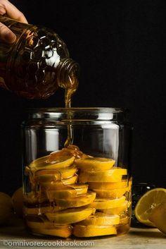 The Best Honey Lemon Tea - This recipe marinates sliced lemons in honey to…