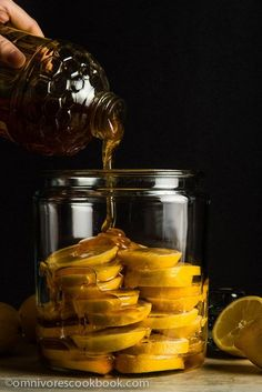 The Best Honey Lemon Tea - This recipe marinates sliced lemons in honey to create a much richer and smoother body. It's soothing, healing, and so comforting!