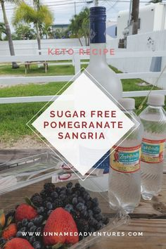 Looking for a delicious cocktail recipe for the summer? Try this sugar free (keto) Pomegranate Cherry Vodka SANGRIA recipe! Vodka Sangria, Vodka Cocktails, Cocktail Drinks, Keto Wine, Sangria Ingredients, Cherry Vodka, Sangria Recipes, Party Drinks, Pomegranate