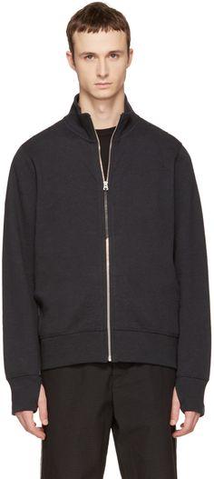 Rag & Bone - Black Trooper Zip-Up Sweater