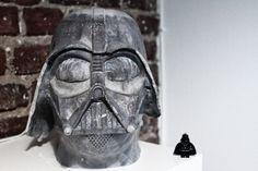 """Star Wars Edition"" Darth Vader Head made of concrete - Darth Vader Helm aus Beton"