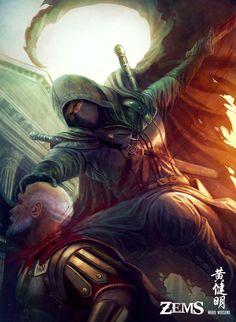 Facebook Page | Patreon| Artstation | Instagram 'Mercenary Assassin' Zems Online Card Game Copyright © 2015 Impulse Limited Kickstarter for Zems is on. We welcome your support. Click the...