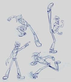 These were my audition sketches for Genndy Tartakovsky's Symbionic Titan.