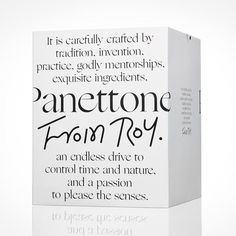 Traditional Italian Panettone in a modern black and white packaging Branding And Packaging, Packaging Box, Beauty Packaging, Skincare Branding, Glass Packaging, Cosmetic Packaging, Web Design, Label Design, Logo Design