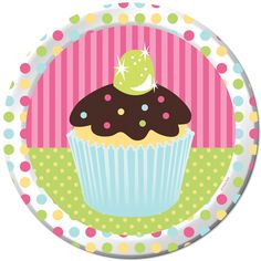 Add a sweet touch to your birthday party meal with these cute cupcake-themed plates. Description from beau-coup.com. I searched for this on bing.com/images