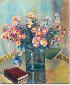 Floral composition - Omar Onsi His Travel, Impressionist, Composition, Floral, Painting, Color, Art, Art Background, Flowers