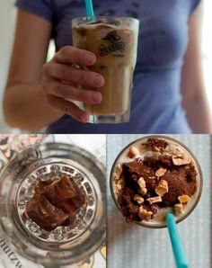 Vegan chocolate caramel frappuccino with chocolate ice dream - oops - cream :-)  /// Veganer Schoko-Karamell-Frappuccino mit veganem Schoko-Eis  *by Deli From The Valley