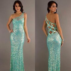 Love this one! Blue sparkly prom dress | PROM♥ | Pinterest ...