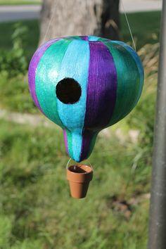 Hot Air Balloon Gourd Birdhouse