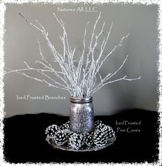 Decorative White Birch Branches/Iced Frosted Branches/Winter Wedding And Home Inches 25 PCS. Winter Wonderland Decorations, Winter Wonderland Theme, Silver Christmas Decorations, Winter Wonderland Christmas, Winter Theme, Christmas Home, Christmas Crafts, Xmas, Dance Decorations