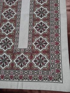 Cross Stitching, Cross Stitch Embroidery, Needlepoint Designs, Cross Stitch Rose, Bargello, Bohemian Rug, Carpet, Rugs, Crochet