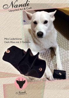 Minibörse aus echtem Leder von Nandi - Upcycled Art & Craft - alle Produkte handgemachte Unikate, erhältlich im Shop: http://de.dawanda.com/shop/NandiShop