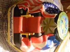 Army Promotion celebration cake - I made it for my husband :)