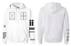 21 Tattos White Hoody