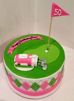 Ladies golf argyle cake More