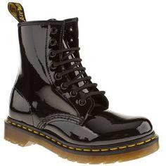 Dr Martens Black 8 Eye Patent Boots