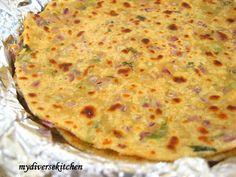 My Diverse Kitchen: Misi Roti (A Spiced Whole Wheat And Chickpea/ Garbanzo Bean Flour Flatbread)