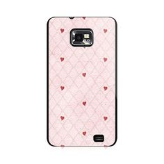 Hearts In Mesh Red Samsung Galaxy S2 Case