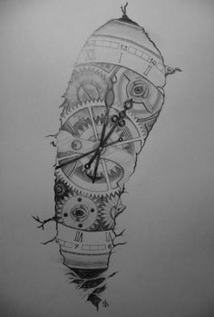 Drawing of a tatoo for my friend, maybe he will do it with some little chan Pocket Watch Drawing, Pocket Watch Tattoo Design, Tattoo Design For Hand, Pocket Watch Tattoos, Compass Tattoo Design, Tattoo Designs Men, Old Tattoos, Body Art Tattoos, Sleeve Tattoos