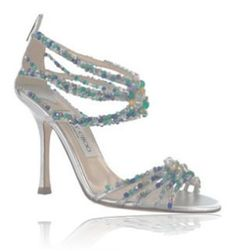 Jimmy Choo is really famous for his wedding shoes collections particularly his ivory wedding shoes. Sparkly Wedding Shoes, Wedding Shoes Heels, Bridal Shoes, Jeweled Shoes, Cinderella Shoes, Jimmy Choo Shoes, Fashion Heels, Blue Shoes, Hot Shoes