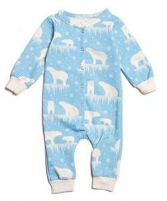 Winter Water Factory Polar Bears French Terry Jumpsuit