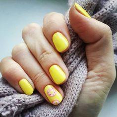 Bright spring nails Drawings on nails Nail designs for short nails Nails trends 2020 Spring nail art Spring nails 2019 Yellow nails Solid Color Nails, Gel Nail Colors, Funky Nail Art, Cool Nail Art, Bright Nails, Yellow Nails, Short Nail Designs, Best Nail Art Designs, Spring Nail Art