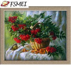 "DIY 5D diamond painting cross stitch ""The curtain of flowers"" size:35*30cm round diamond embroidery mosaic Crafts decoration"