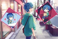 KAITO// Does anyone know the artist? Hatsune Miku Vocaloid, Kaito Shion, Kagamine Rin And Len, Cute Anime Boy, Anime Guys, Blue Hair Anime Boy, Roller, Kawaii, Anime Couples