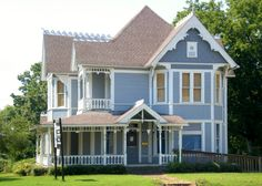 Blue Victorian House Clarksville Arkansas | by Cosmos Mariner