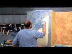 Pintura: hacer un acabado rústico en una pared (BricocrackTV) - YouTube
