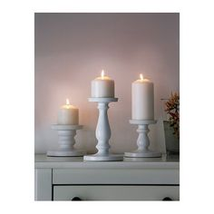 ERSÄTTA Block candle holder - IKEA, I have 2 of these and I love them. You could put pink and purple candles on for pops of color! Ikea Candle Holder, Glass Candle Holders, Candle Stands, Ikea Candles, Pillar Candles, Candle Arrangements, Recycling Facility, Home Fragrances, Tea Light Holder