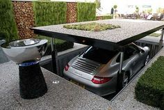 Pop-Up Garage. HAHAHA. Errr...maybe not. I'd like a pop up something though...maybe a secret staircase?