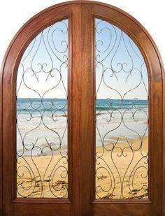 Mahogany Astoria Astoria | Exterior Double Arch Mahogany Doors